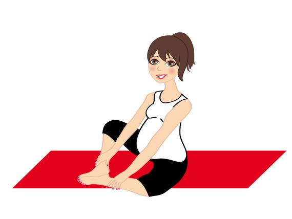 La posición de Adity en el yoga durante el embarazo