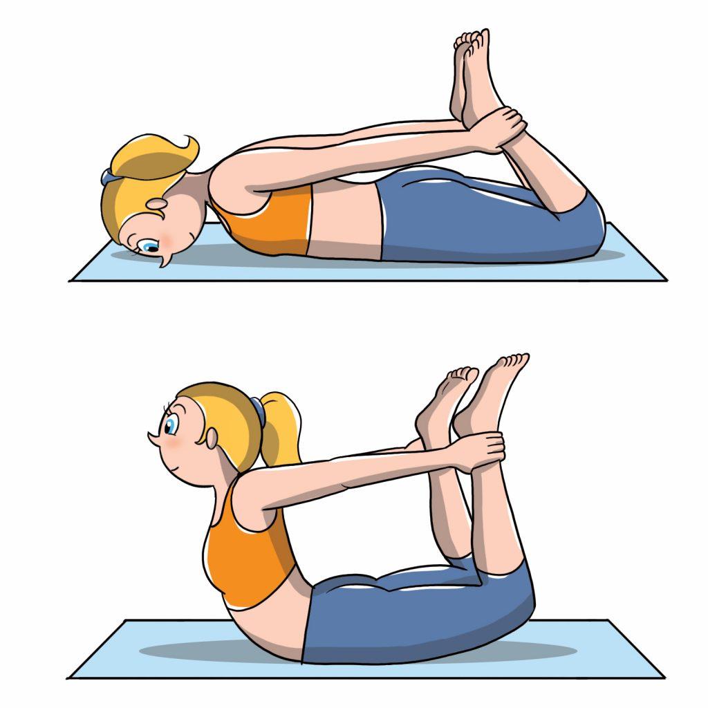 posiciones de yoga de arco