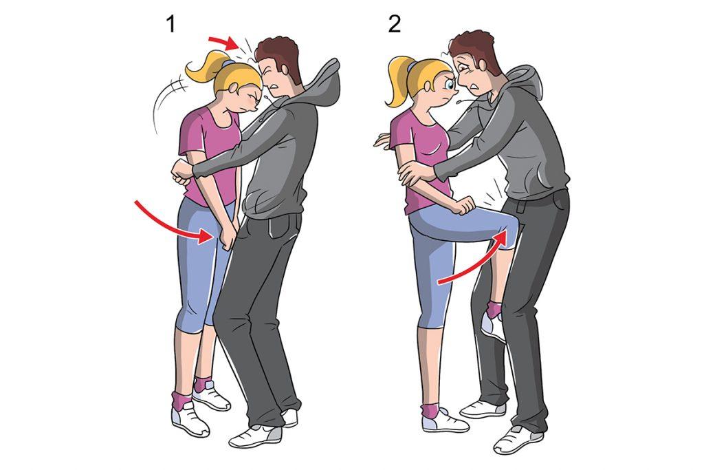 autodefensa: agresión frontal cómo comportarse