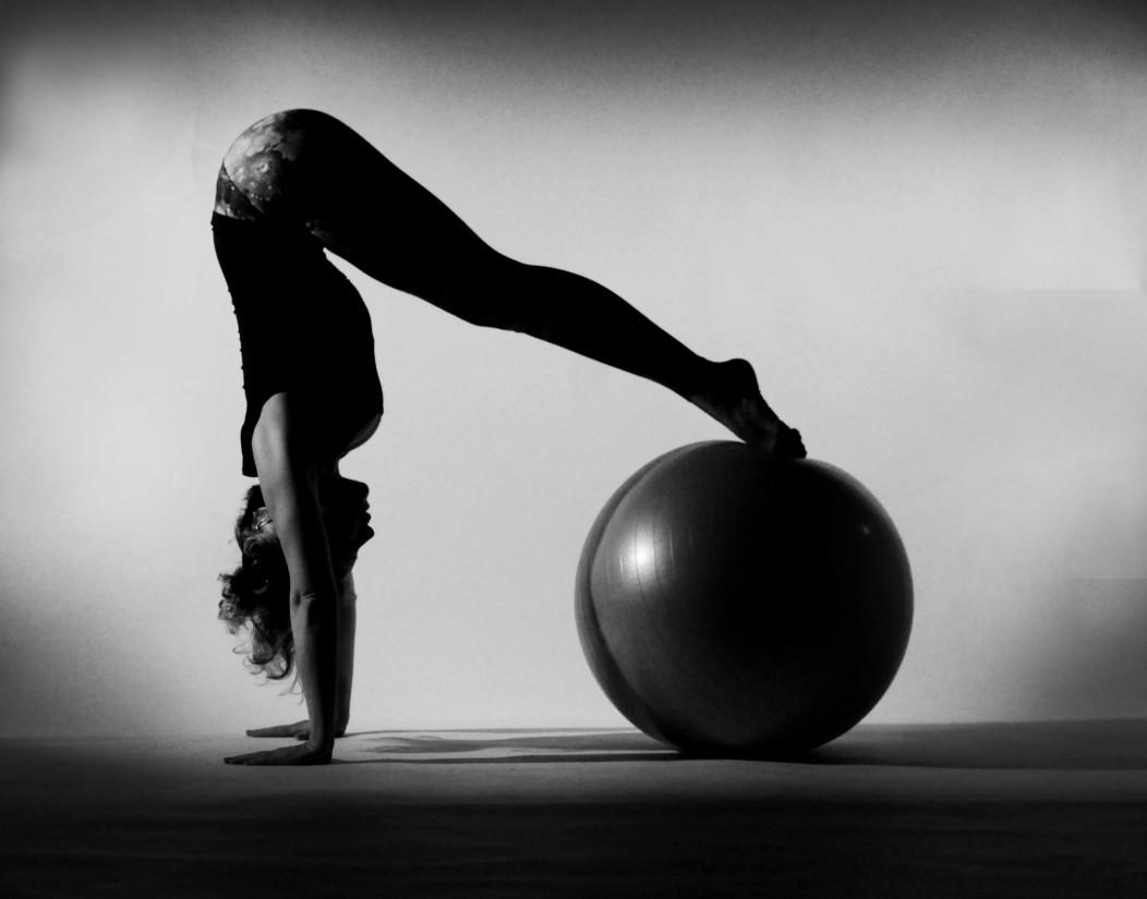 posición de pilates