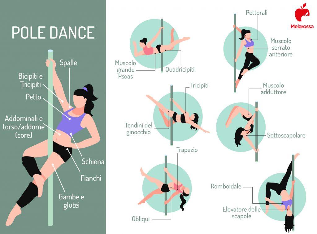 Pole dance: músculos involucrados