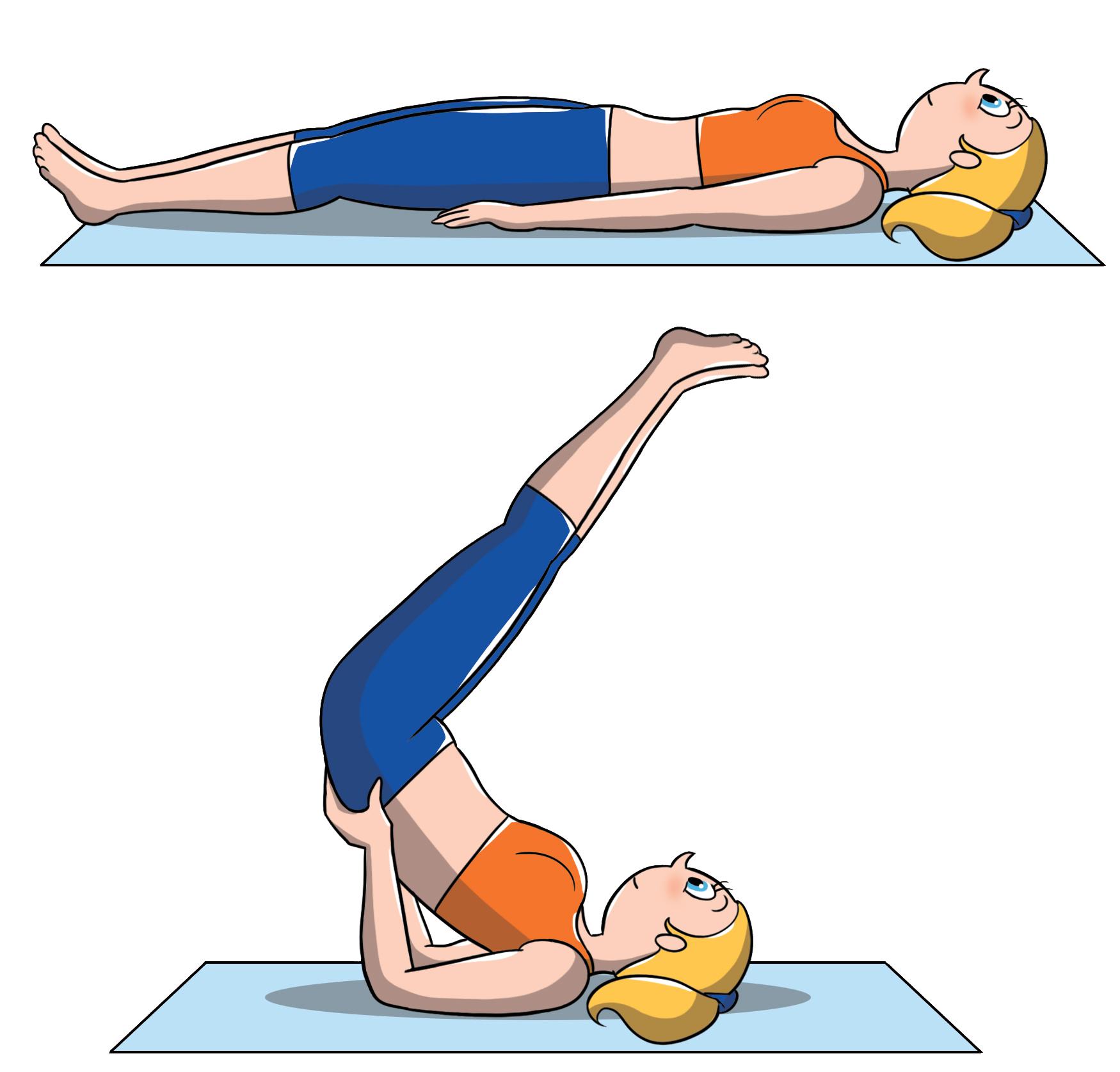 posiciones intermedias de yoga: mitad boca abajo