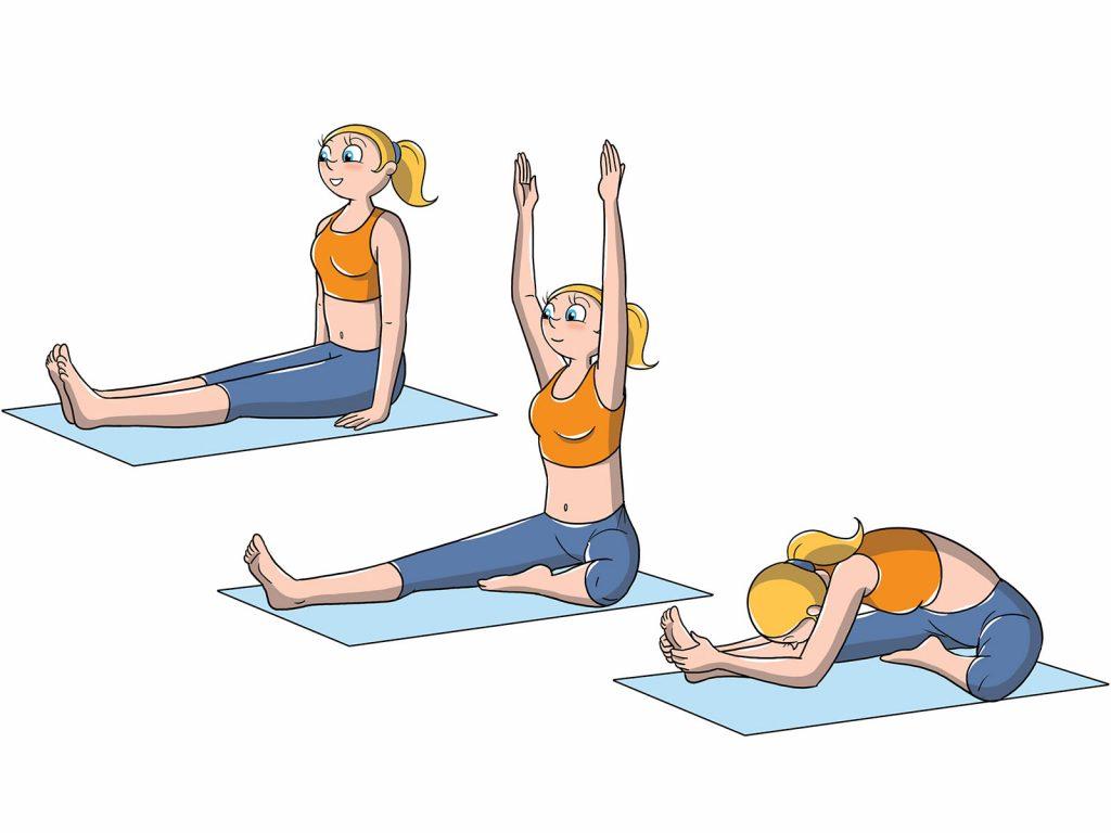 posiciones avanzadas de yoga: de la cabeza a la rodilla