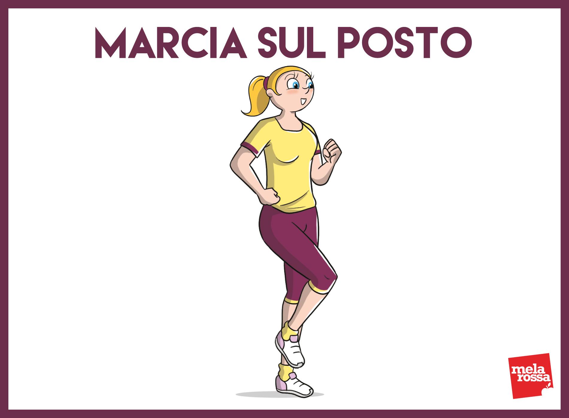 despertar muscular: marcha en su lugar
