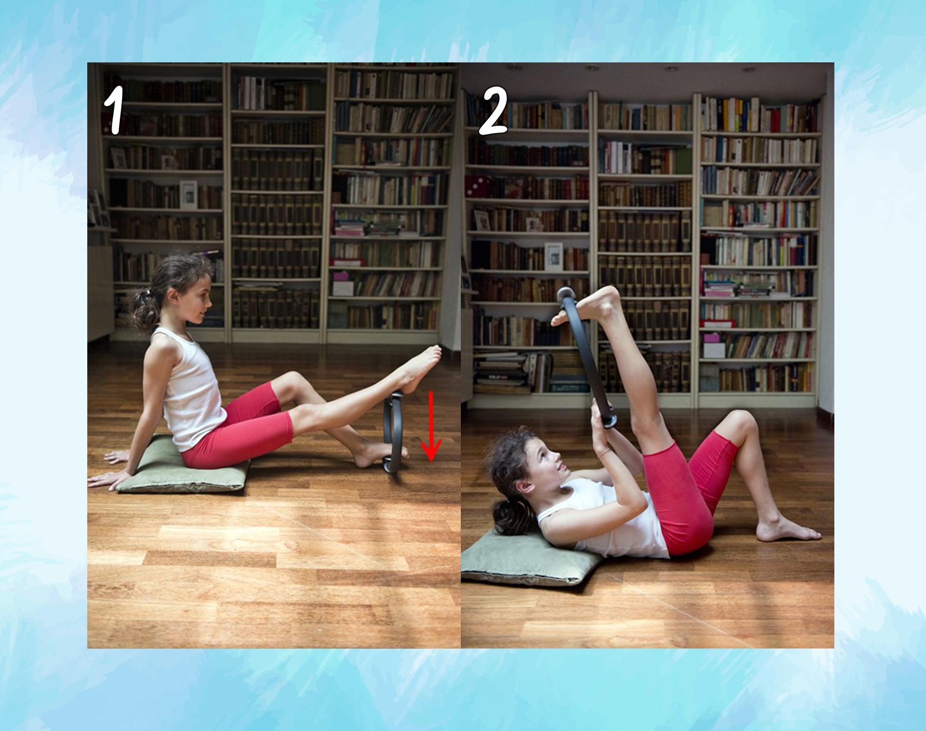 músculos isquiotibiales: anillo de pilates
